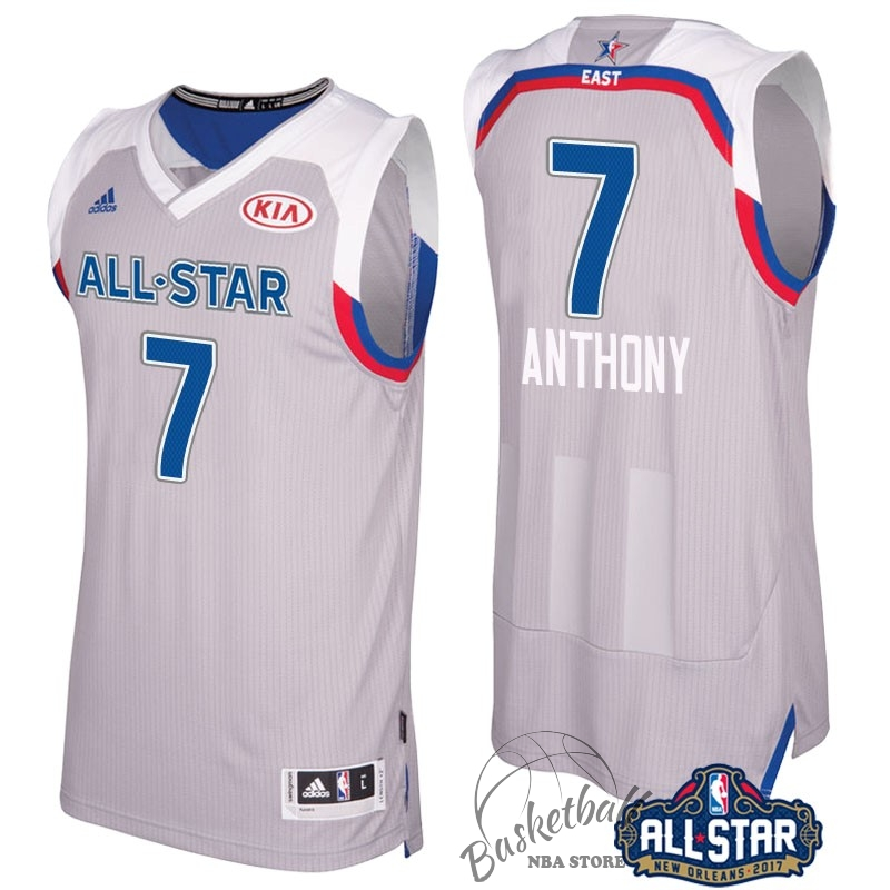 Choisir Maillot NBA 2017 All Star NO.7 Carmelo Anthony Gray