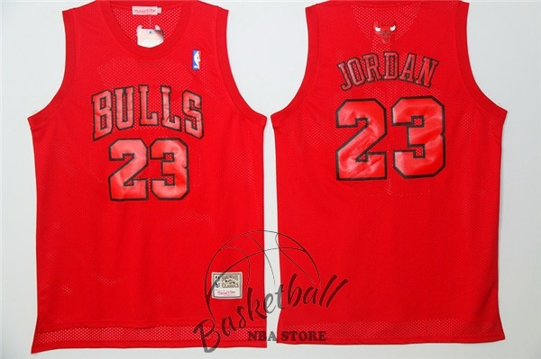 Choisir Maillot NBA Chicago Bulls NO.23 Michael Jordan Rouge Engrener