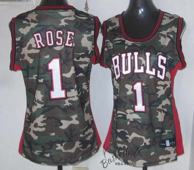 Choisir Maillot NBA Femme 2013 Camouflage Fashion NO.1 Rose