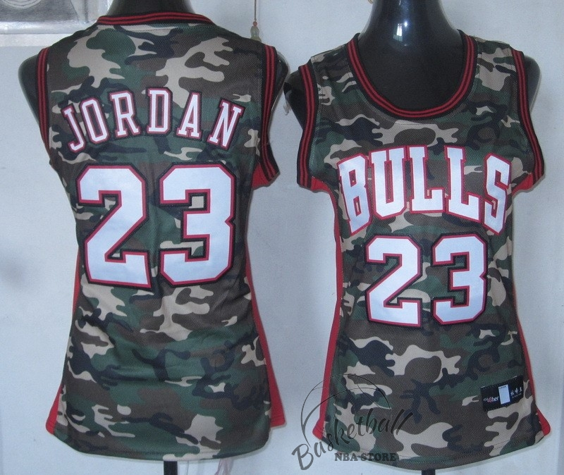 Choisir Maillot NBA Femme 2013 Camouflage Fashion NO.23 Jodan
