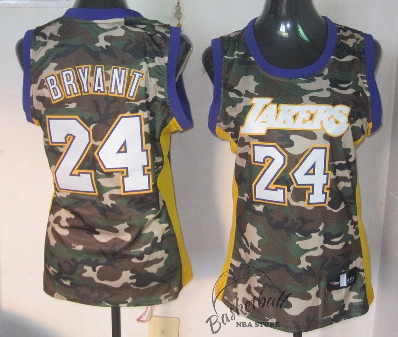Choisir Maillot NBA Femme 2013 Camouflage Fashion NO.24 Bryant