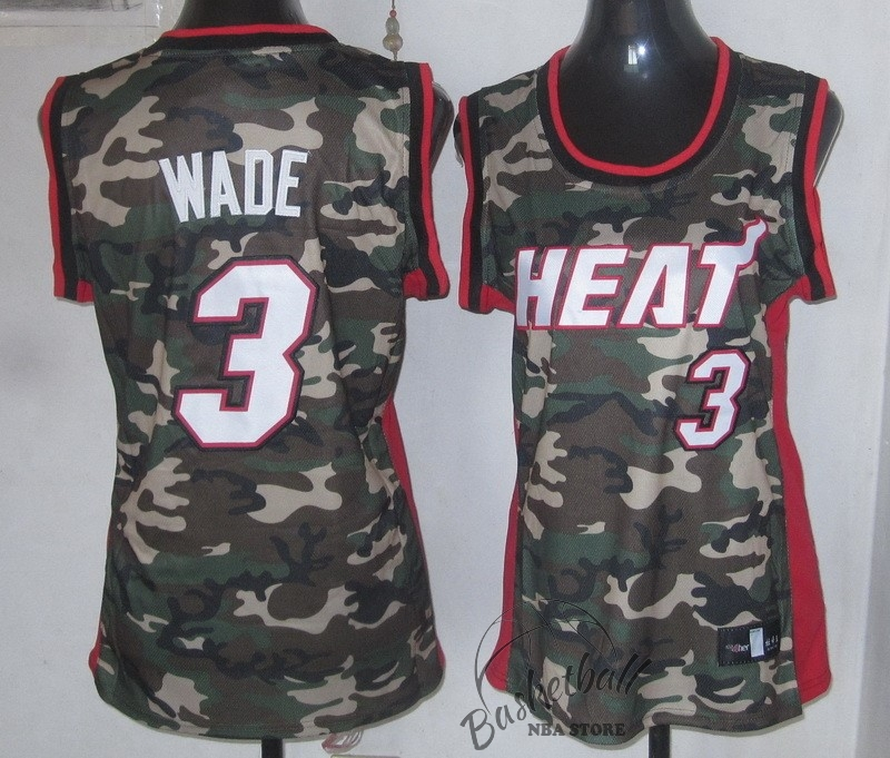 Choisir Maillot NBA Femme 2013 Camouflage Fashion NO.3 Wade