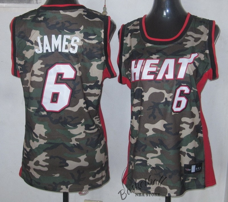 Choisir Maillot NBA Femme 2013 Camouflage Fashion NO.6 James