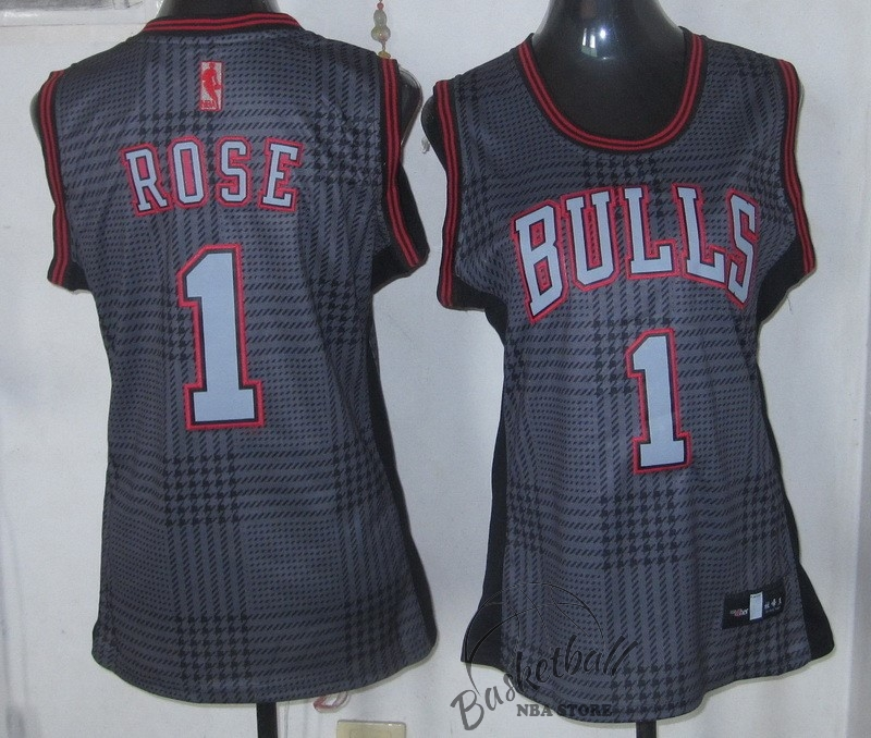 Choisir Maillot NBA Femme 2013 Static Fashion NO.1 Derrick Rose
