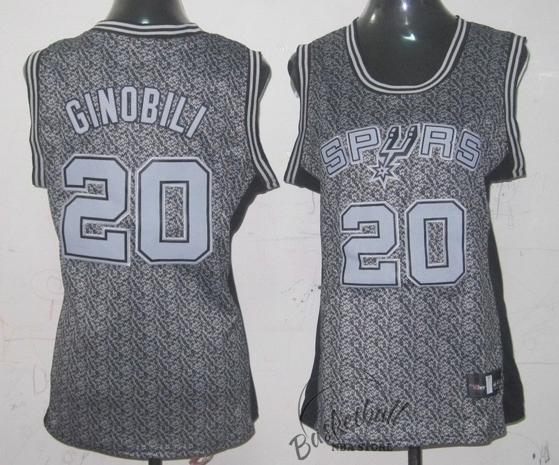 Choisir Maillot NBA Femme 2013 Static Fashion NO.20 Manu Ginóbili