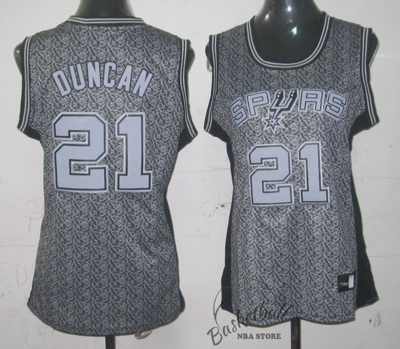 Choisir Maillot NBA Femme 2013 Static Fashion NO.21 Tim Duncan