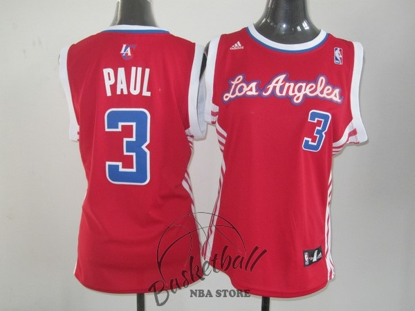 Choisir Maillot NBA Femme Los Angeles Clippers NO.3 Chris Paul Rouge