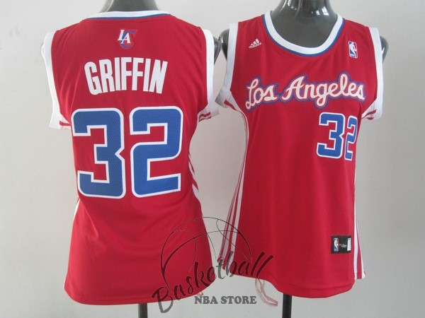 Choisir Maillot NBA Femme Los Angeles Clippers NO.32 Blake Griffin Rouge