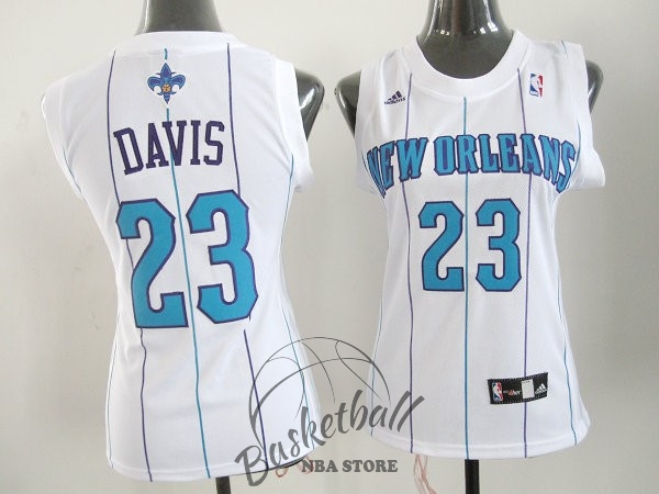 Choisir Maillot NBA Femme New Orleans Pelicans NO.23 Anthony Davis Blanc