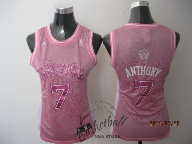 Choisir Maillot NBA Femme New York Knicks NO.7 Carmelo Anthony Rose