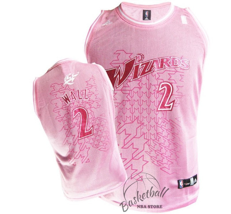 Choisir Maillot NBA Femme Washington Wizards NO.2 John Wall Rose