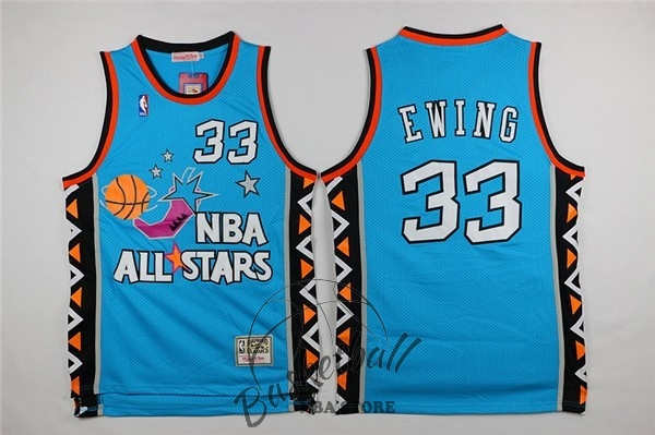 Choisir Maillot NBA 1996 All Star NO.33 Patrick Ewing Bleu