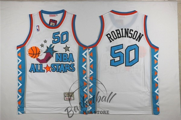 Choisir Maillot NBA 1996 All Star NO.50 David Robinson Blanc