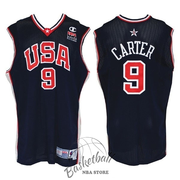 Choisir Maillot NBA 2000 USA NO.9 Carter Noir