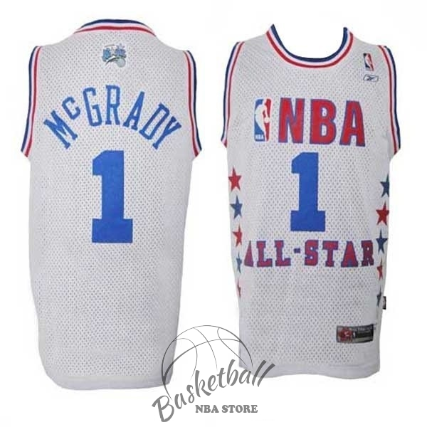 Choisir Maillot NBA 2003 All Star NO.1 Tracy McGrady Blanc