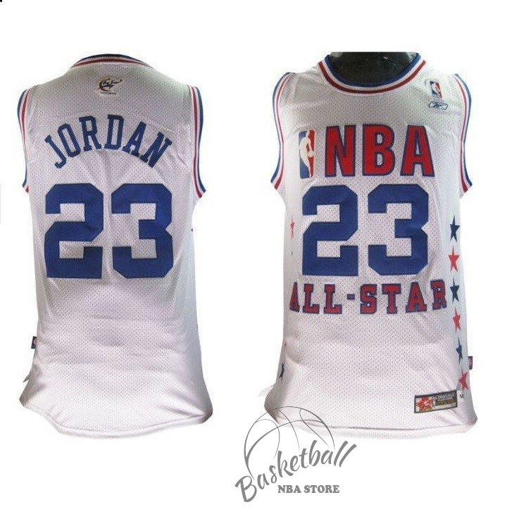 Choisir Maillot NBA 2003 All Star NO.23 Michael Jordan Blanc