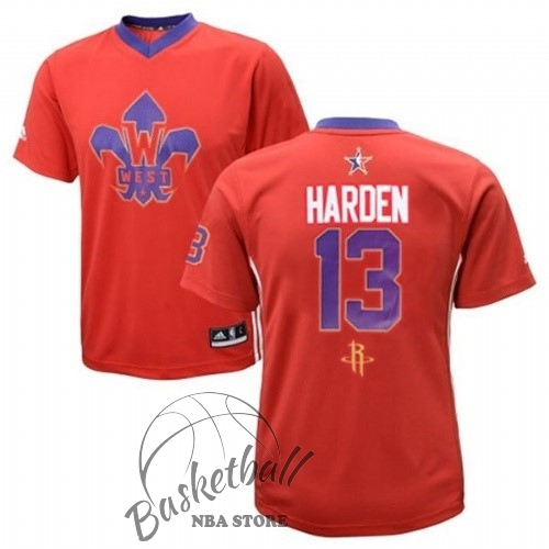 Choisir Maillot NBA 2014 All Star NO.13 James Harden Rouge