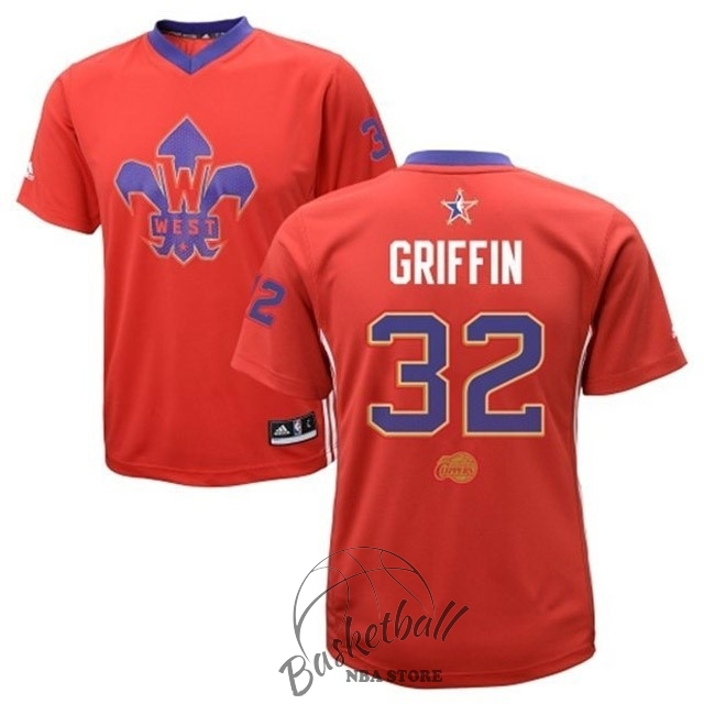 Choisir Maillot NBA 2014 All Star NO.32 Blake Griffin Rouge