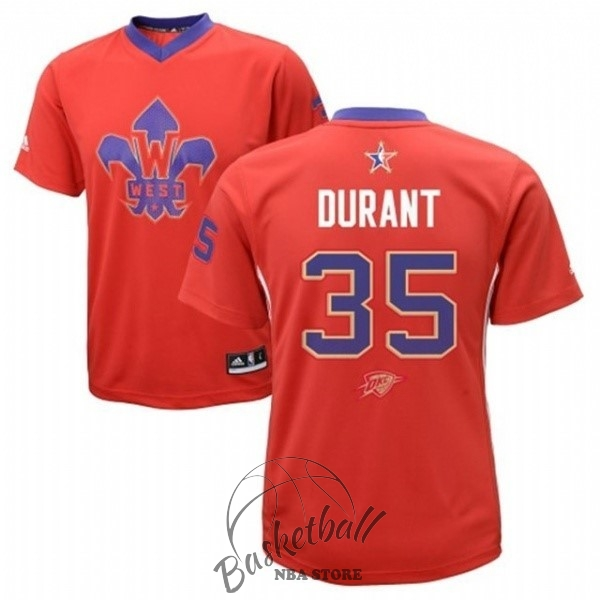 Choisir Maillot NBA 2014 All Star NO.35 Kevin Durant Rouge
