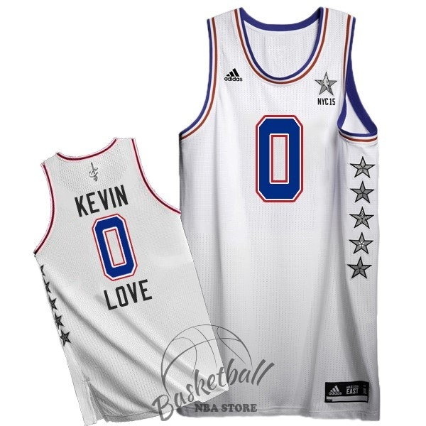 Choisir Maillot NBA 2015 All Star NO.0 Kevin Love Blanc