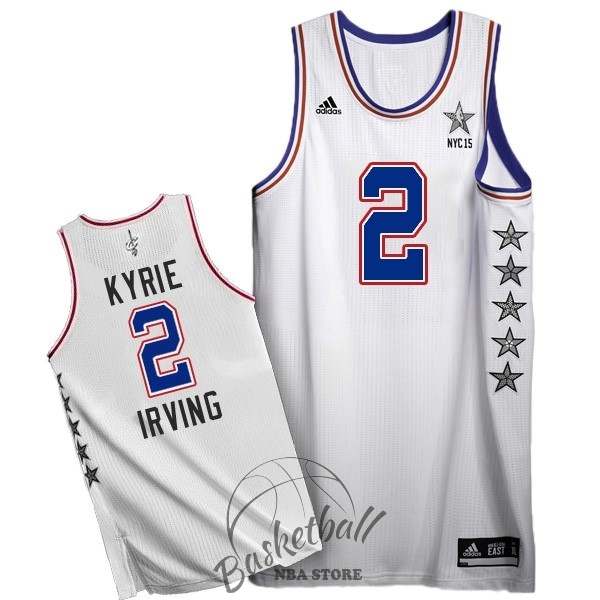 Choisir Maillot NBA 2015 All Star NO.2 Kyrie Irving Blanc