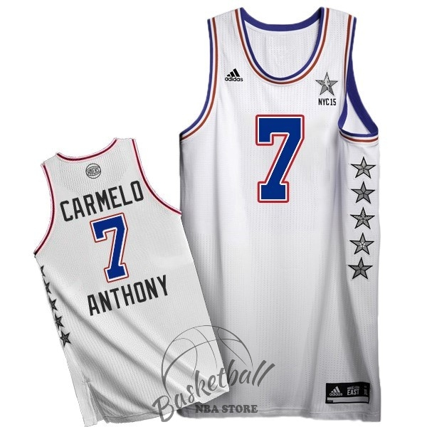Choisir Maillot NBA 2015 All Star NO.7 Carmelo Anthony Blanc