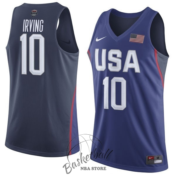 Choisir Maillot NBA 2016 USA NO.10 Kyrie Irving Bleu