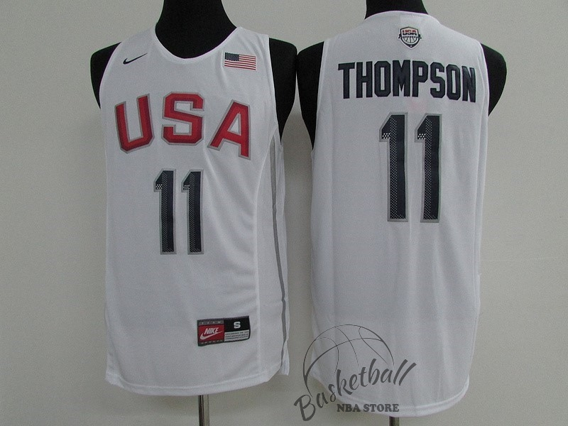 Choisir Maillot NBA 2016 USA NO.11 Klay Thompson Blanc