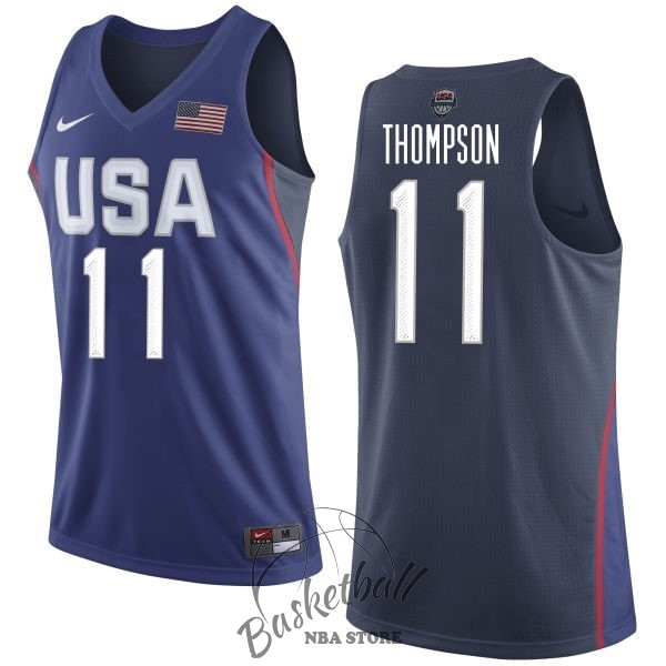 Choisir Maillot NBA 2016 USA NO.11 Klay Thompson Bleu