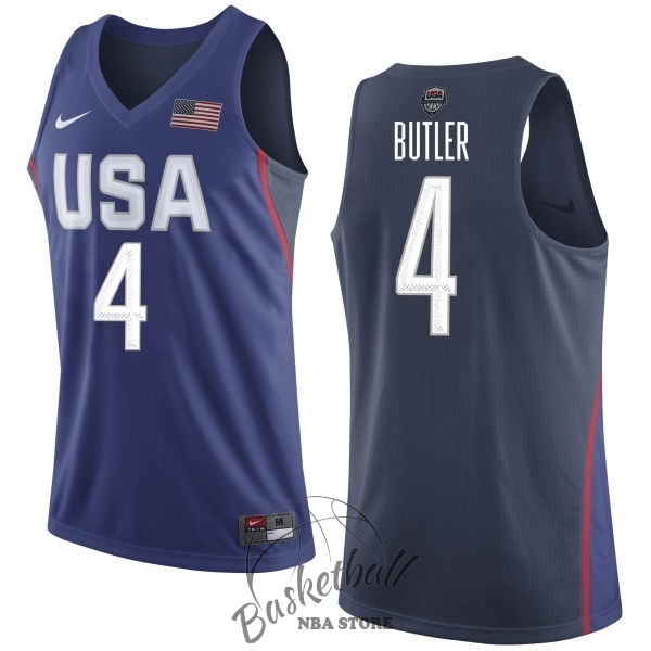 Choisir Maillot NBA 2016 USA NO.4 Jimmy Butler Bleu