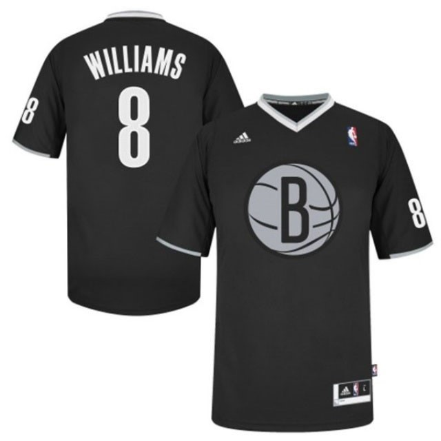 Choisir Maillot NBA Brooklyn Nets 2013 Noël NO.8 Williams Noir