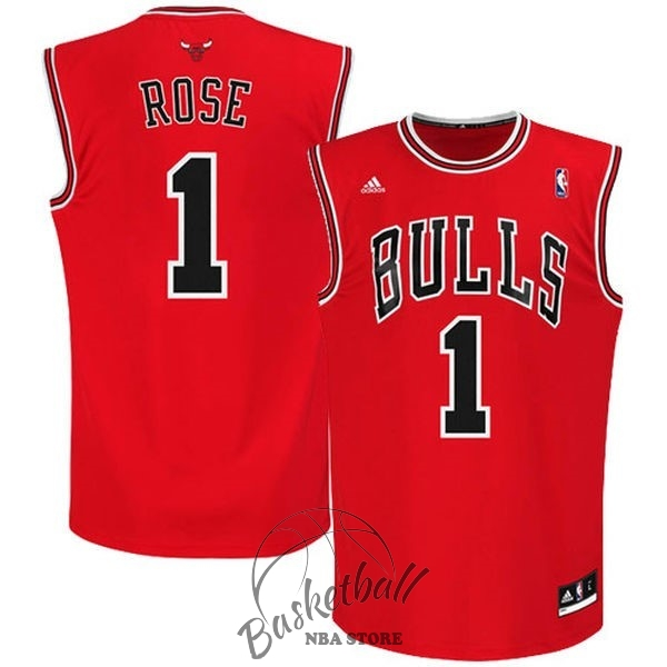 Choisir Maillot NBA Chicago Bulls NO.1 Derrick Rose Rouge