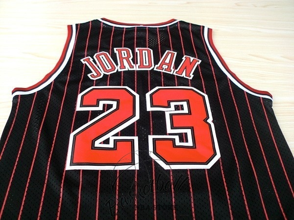 Choisir Maillot NBA Chicago Bulls NO.23 Michael Jordan Noir Bande