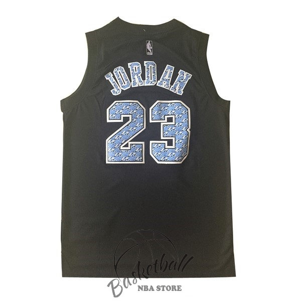 Choisir Maillot NBA Chicago Bulls NO.23 Michael Jordan Noir Diamant