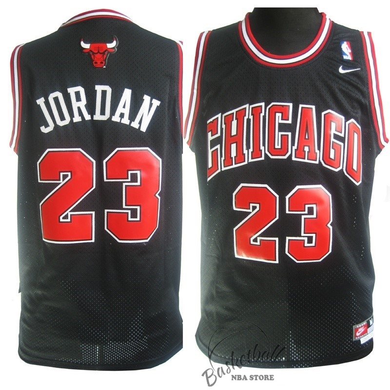 Choisir Maillot NBA Chicago Bulls NO.23 Michael Jordan Noir