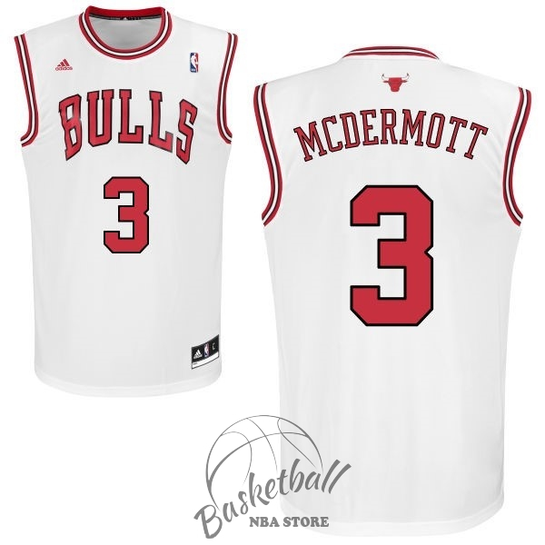 Choisir Maillot NBA Chicago Bulls NO.3 Doug McDermott Blanc
