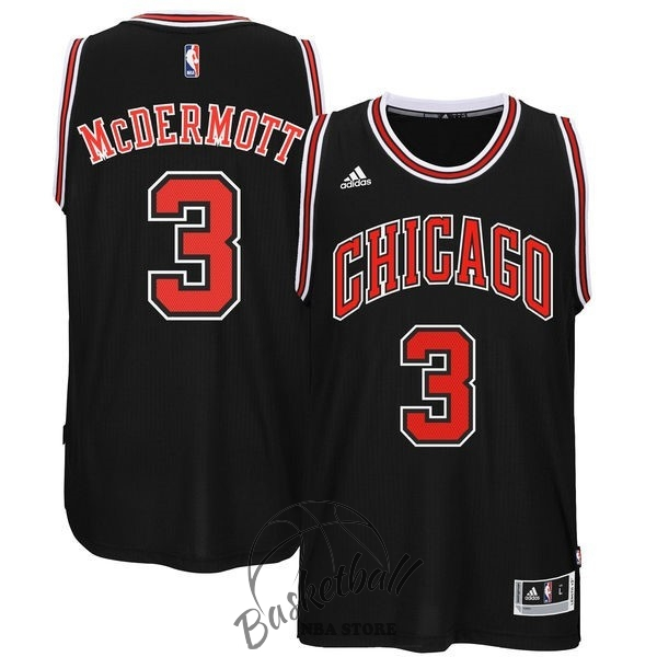 Choisir Maillot NBA Chicago Bulls NO.3 Doug McDermott Noir