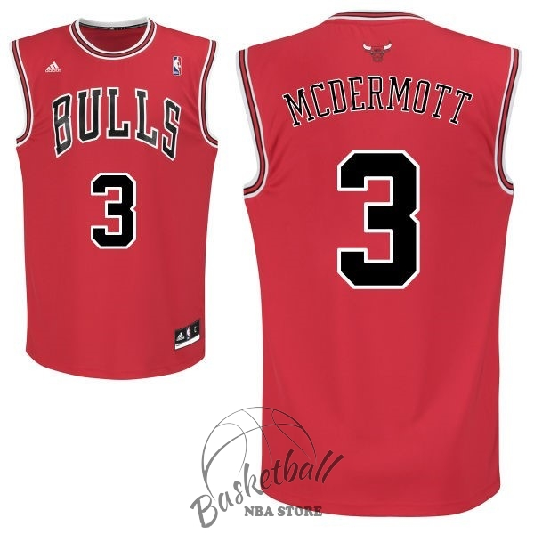 Choisir Maillot NBA Chicago Bulls NO.3 Doug McDermott Rouge