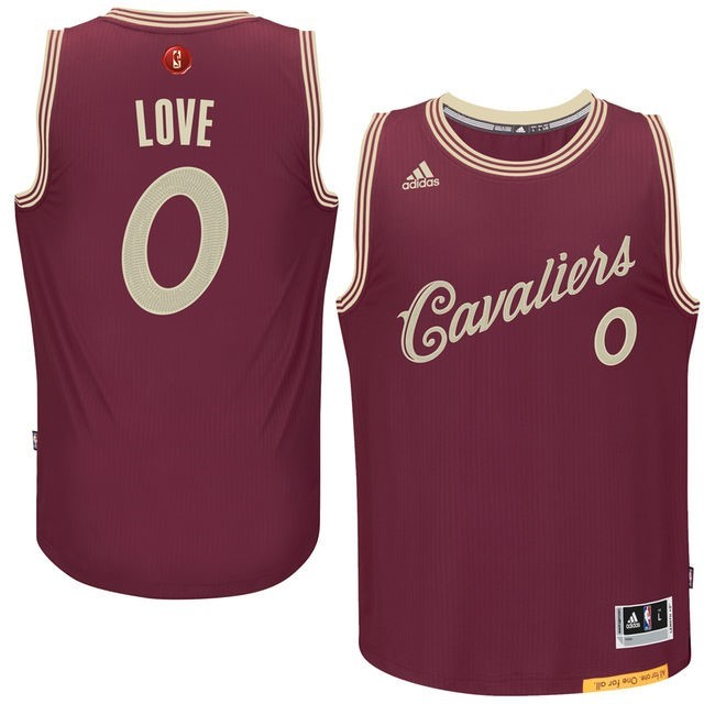 Choisir Maillot NBA Cleveland Cavaliers 2015 Noël NO.0 Love Rouge