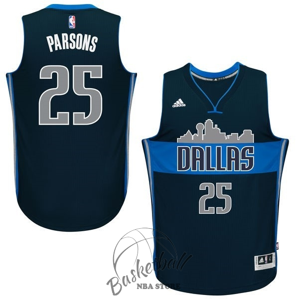 Choisir Maillot NBA Dallas Mavericks NO.25 Chandler Parsons Bleu Profond