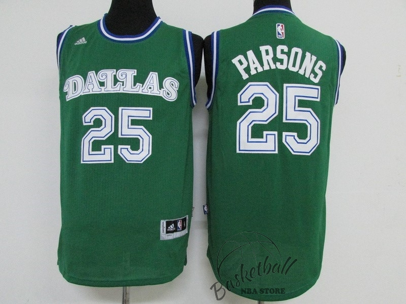 Choisir Maillot NBA Dallas Mavericks NO.25 Chandler Parsons Vert