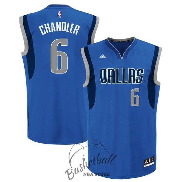 Choisir Maillot NBA Dallas Mavericks NO.6 Tyson Chandler Bleu