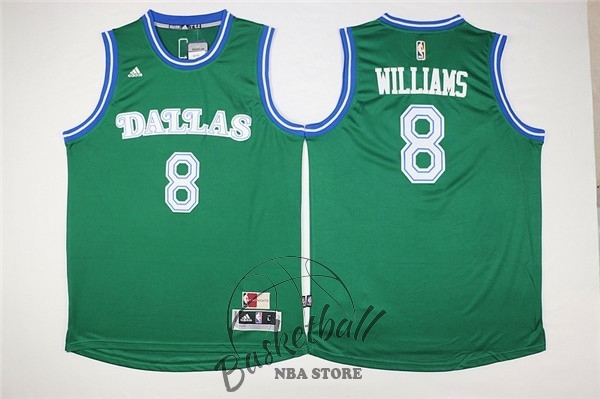 Choisir Maillot NBA Dallas Mavericks NO.8 Deron Michael Williams Vert