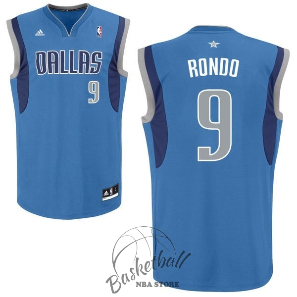 Choisir Maillot NBA Dallas Mavericks NO.9 Rajon Rondo Bleu