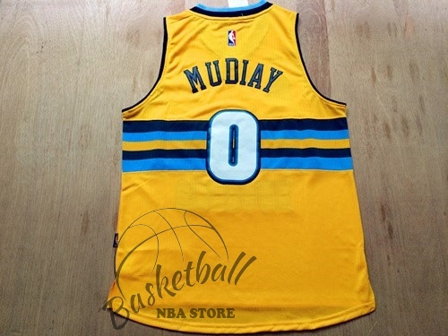 Choisir Maillot NBA Denver Nuggets NO.0 Darrell Arthur Jaune