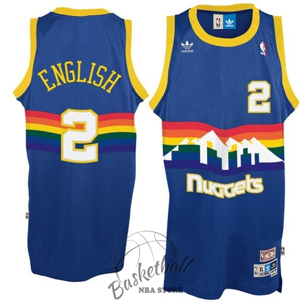 Choisir Maillot NBA Denver Nuggets NO.2 Alex English Bleu