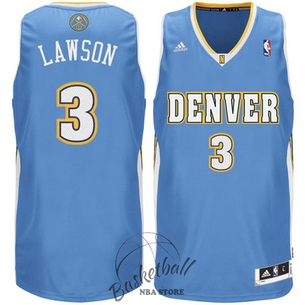 Choisir Maillot NBA Denver Nuggets NO.3 Allen Iverson Bleu