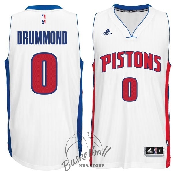 Choisir Maillot NBA Detroit Pistons NO.0 Andre Drummond Blanc