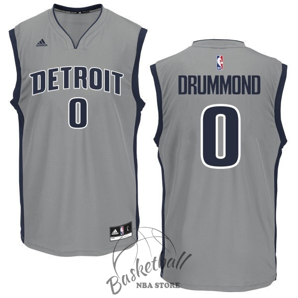 Choisir Maillot NBA Detroit Pistons NO.0 Andre Drummond Gris