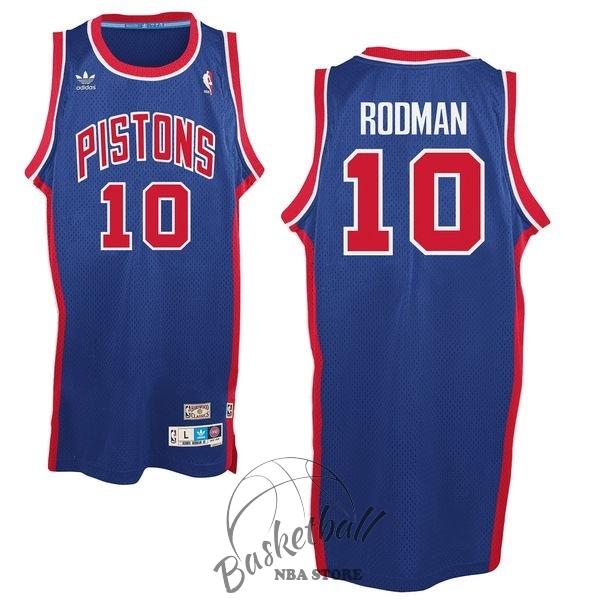 412b02d34e5f6 Choisir Maillot NBA Detroit Pistons NO.10 Dennis Rodman Bleu Pas ...